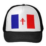 Bandera francesa libre de las fuerzas gorra