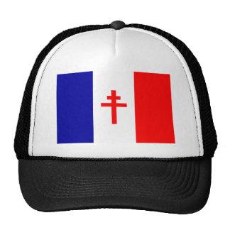 Bandera francesa libre de las fuerzas gorro