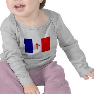 Bandera francesa libre de las fuerzas camisetas