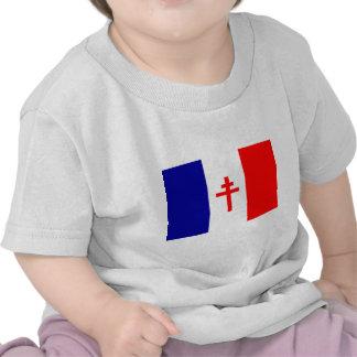 Bandera francesa libre de las fuerzas camiseta