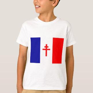 Bandera francesa libre de las fuerzas playera