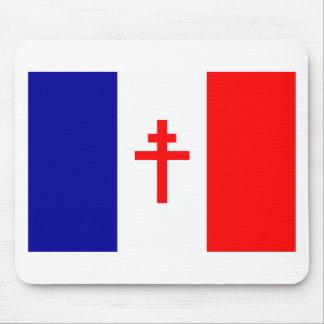 Bandera francesa libre de las fuerzas tapetes de raton