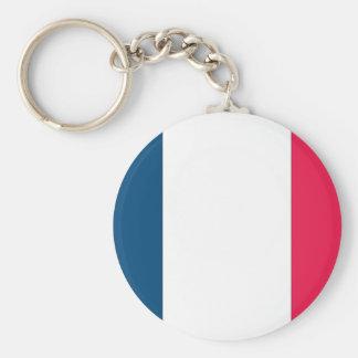 Bandera francesa llavero redondo tipo pin