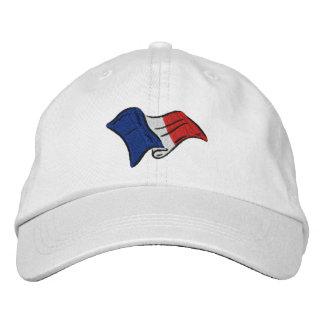 Bandera francesa para los amantes del casquillo de gorro bordado