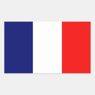 Bandera francesa pegatina rectangular