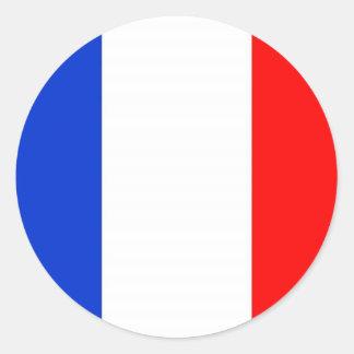 Bandera francesa pegatinas redondas