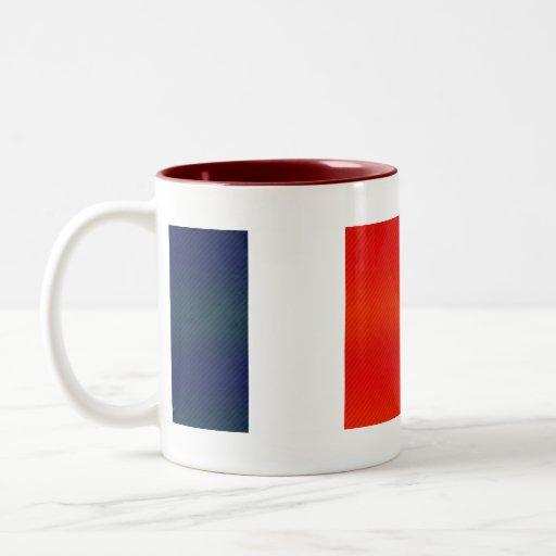 Bandera francesa pelada moderna taza