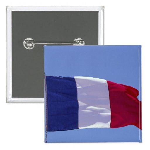 Bandera francesa pin cuadrada 5 cm