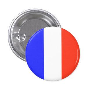 Bandera francesa pin redondo de 1 pulgada