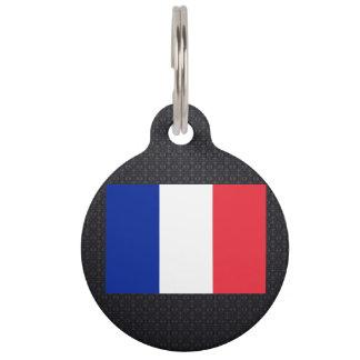 Bandera francesa placa de mascota
