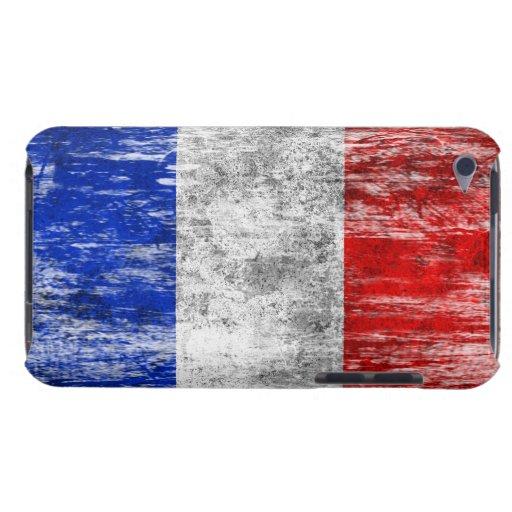 Bandera francesa rascada y llevada barely there iPod carcasa