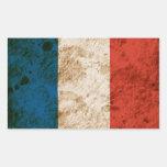 Bandera francesa rugosa pegatinas