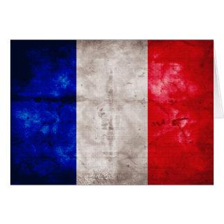 Bandera francesa tarjeta pequeña