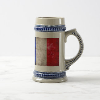 Bandera francesa jarra de cerveza