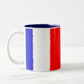 Bandera francesa taza de café