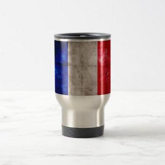 Bandera francesa taza de viaje de acero inoxidable