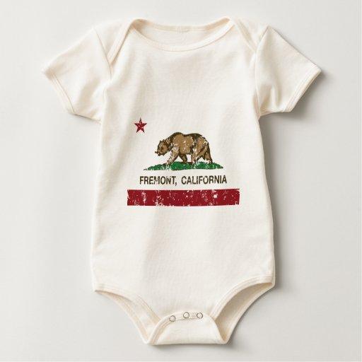 bandera fremont de California apenado Body Para Bebé