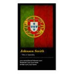 Bandera fresca Bandeira de Portugal de Portugal Tarjetas De Visita