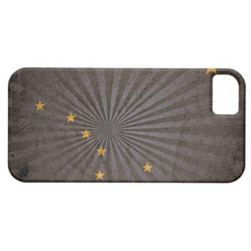 Bandera fresca de Alaska del Grunge iPhone 5 Case-Mate Cárcasa