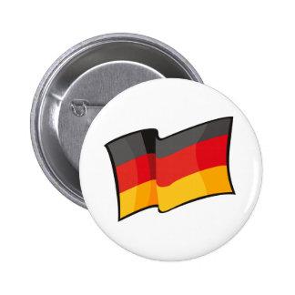 Bandera fresca de Alemania Pin Redondo De 2 Pulgadas