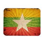 Bandera fresca de Birmania del Grunge Imán