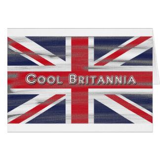 Bandera fresca de Britannia Británicos Tarjeta De Felicitación