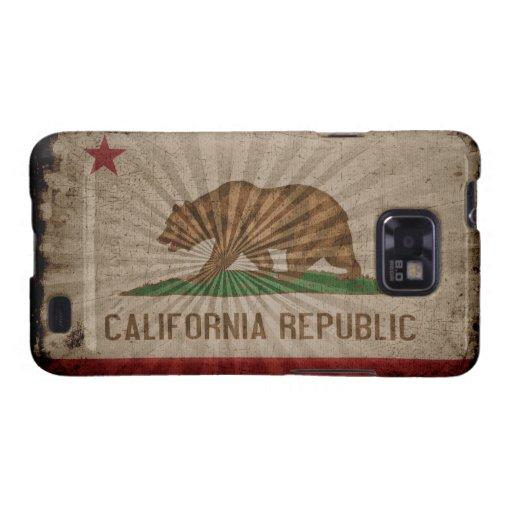 Bandera fresca de California del Grunge Samsung Galaxy SII Funda