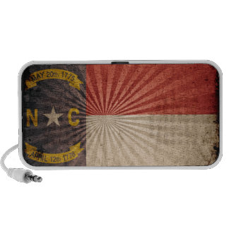 Bandera fresca de Carolina del Norte del Grunge Altavoces De Viaje