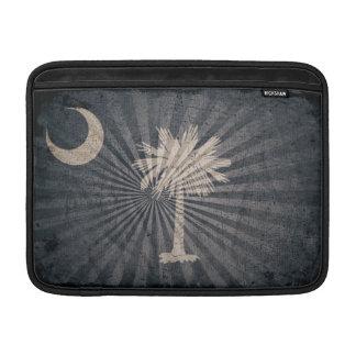Bandera fresca de Carolina del Sur del Grunge Fundas Macbook Air