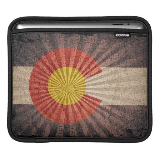 Bandera fresca de Colorado del Grunge Mangas De iPad
