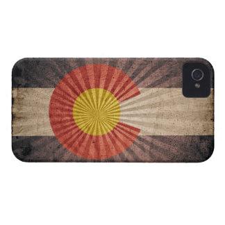Bandera fresca de Colorado del Grunge iPhone 4 Case-Mate Protectores
