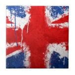 Bandera fresca de Inglaterra Teja Ceramica
