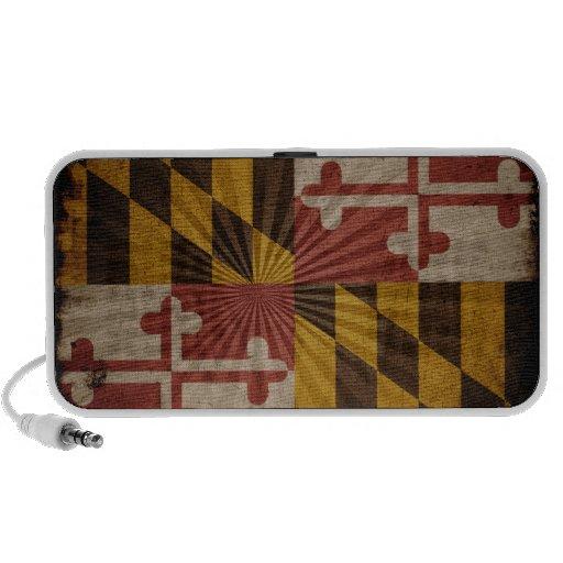 Bandera fresca de Maryland del Grunge Portátil Altavoz