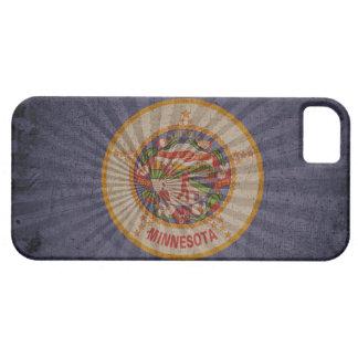 Bandera fresca de Minnesota del Grunge Funda Para iPhone 5 Barely There