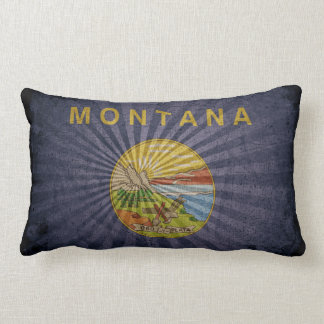 Bandera fresca de Montana del Grunge Almohada