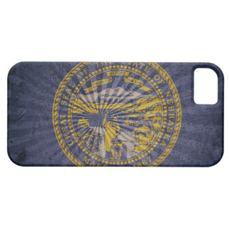 Bandera fresca de Nebraska del Grunge iPhone 5 Case-Mate Protector