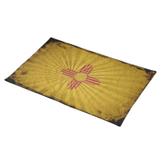 Bandera fresca de New México del Grunge Mantel Individual