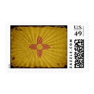 Bandera fresca de New México del Grunge Sellos