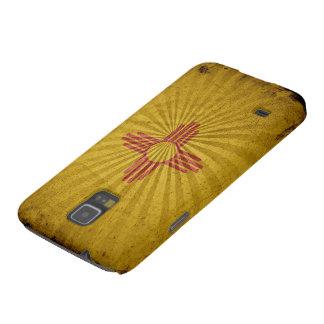 Bandera fresca de New México del vintage Carcasa Para Galaxy S5
