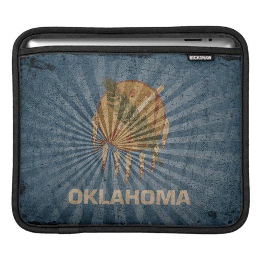 Bandera fresca de Oklahoma del Grunge Fundas Para iPads