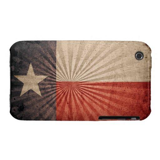 Bandera fresca de Tejas del Grunge iPhone 3 Case-Mate Coberturas