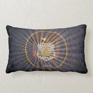 Bandera fresca de Utah del Grunge Cojin
