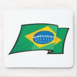 Bandera fresca del Brasil Alfombrillas De Ratón