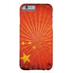 Bandera fresca del chino del Grunge Funda De iPhone 6 Barely There