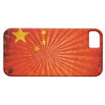 Bandera fresca del chino del Grunge iPhone 5 Case-Mate Carcasa