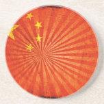 Bandera fresca del chino del Grunge Posavaso Para Bebida