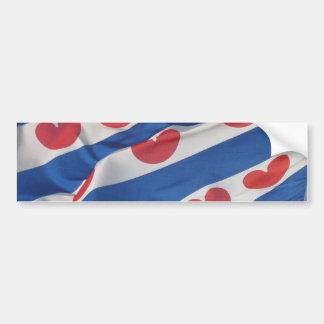 Bandera Frisia más enferma de parachoques Vlag del Etiqueta De Parachoque