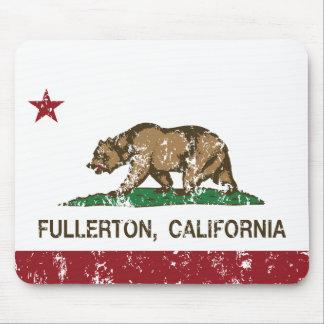 Bandera Fullerton del estado de California Alfombrilla De Ratones