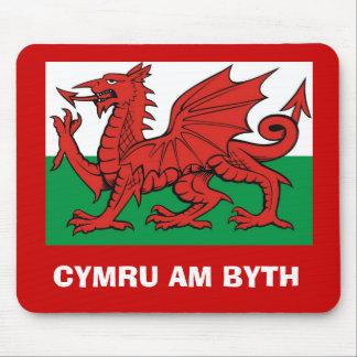 """Bandera Galés, """"byth de Cymru"""",    el dragón rojo Tapete De Ratones"""