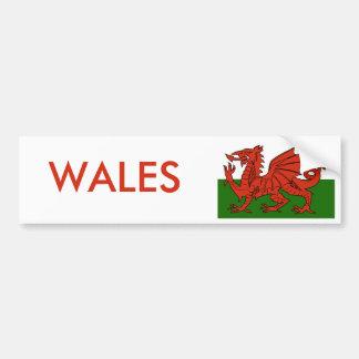 Bandera Galés Pegatina Para Auto